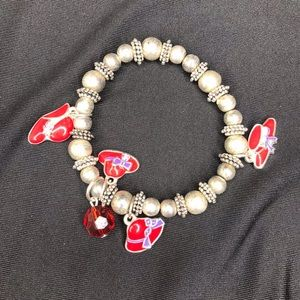Red Hat Society Bracelet Charms
